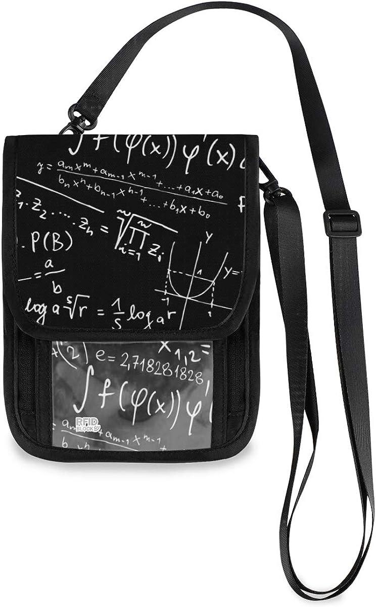 VIKKO Mathematics Travel Neck Wallet With Blocking Small RFID - Translated Popular standard