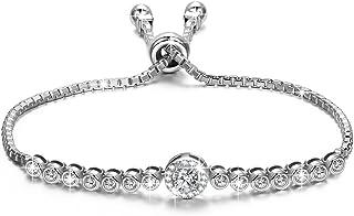 NINASUN The Little Mermaid Sterling Silver Bracelet Women Adjustable Chain Bracelet with Sparkling Cubic Zirconia Allergy ...
