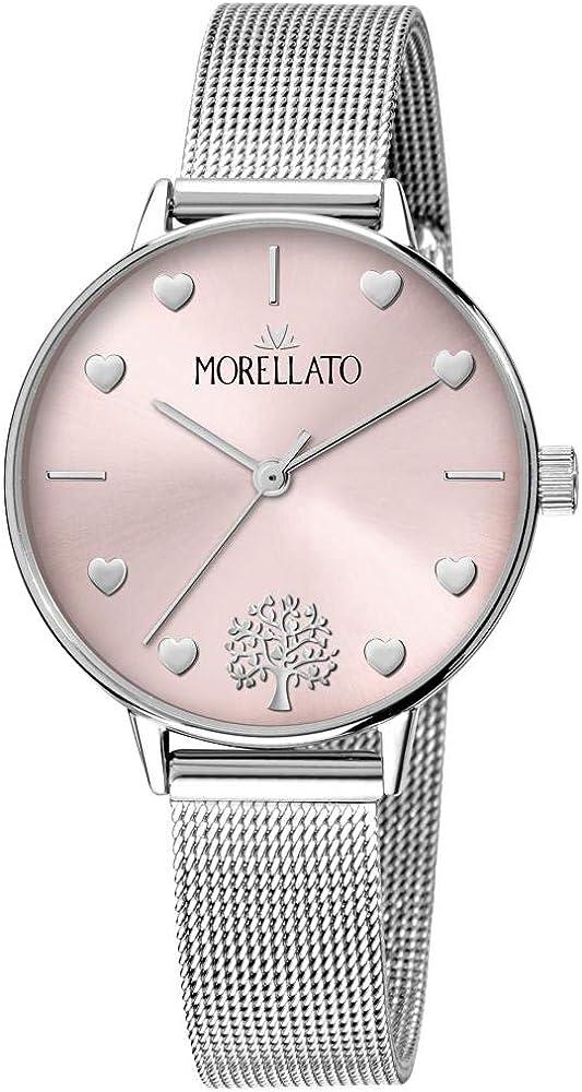 Morellato, orologio da donna, collezione ninfa, in acciaio inossidabile 8033288857488