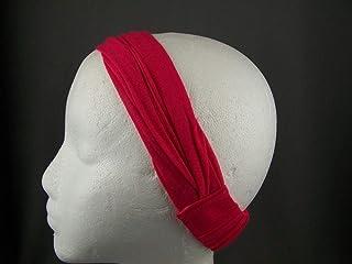 Dk Green chiffon lightweight soft fabric stretch headband kerchief 3in1 bandana