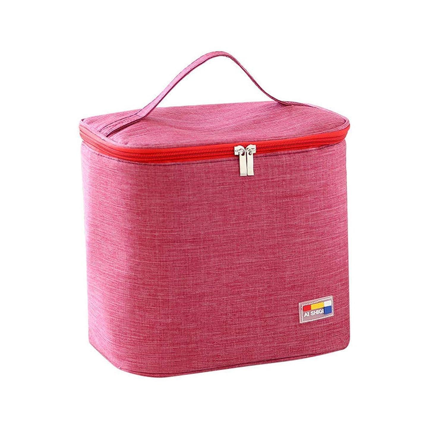要塞入力マウンド専用ランチバッグトートバッグ断熱性を向上キャンプに適していますシンプルなバッグイージーファッション絶縁バッグ冷蔵バッグポケットを描く冷却ハンドバッグ防水ハンドバッグ (A)