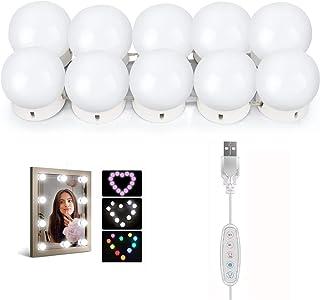 Gluckluz Mirror Lights Vanity Lighting 10 LED Bulb Make up Decoration Lights Hollywood Style 16 Modes Color Changing Light...