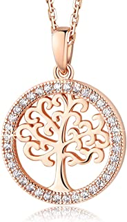 Family Tree of Life 925 Sterling Silver Pendant Necklace Earrings Crystal from Swarovski