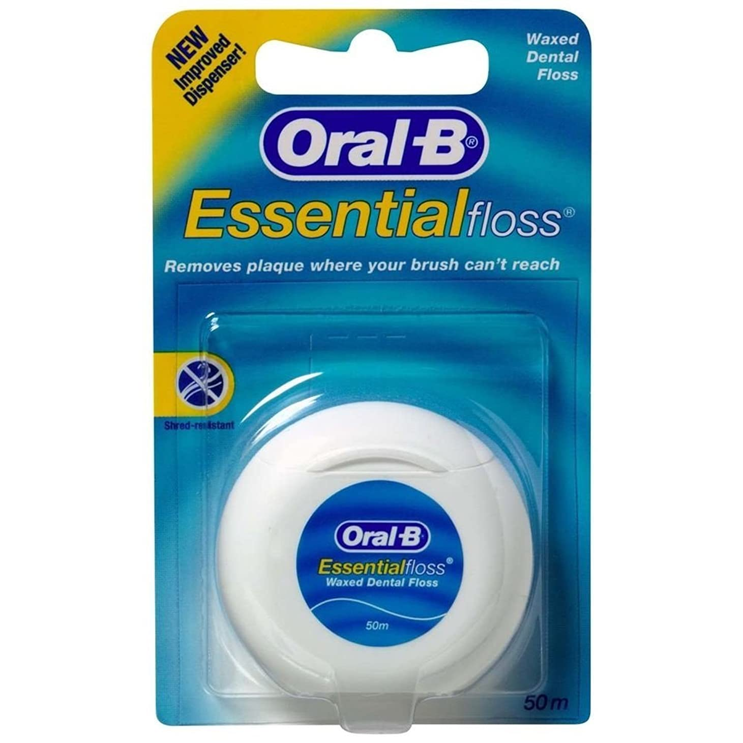 どこにも養う炭素Oral-B Essential Waxed Dental Floss by Oral-B