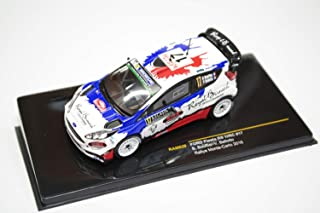 Ford Fiesta RS WRC #17 'M-Sport Ford WRT' Rally Monte-Carlo 2016 Year - Subcompact Car - 1/43 Scale Collectible Model Vehicle - B.Bouffier/V.Belloto