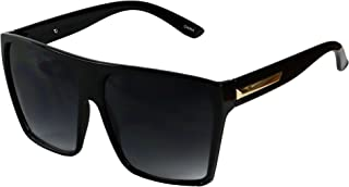 Basik Eyewear - Big XL Trapezoid Kim K Oversized Flat Top Square Aviator Sunglasses