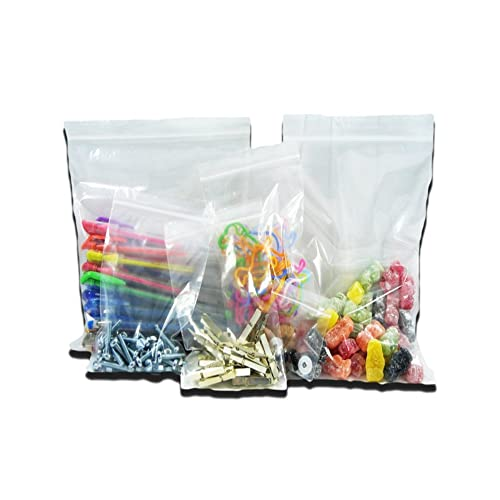 """100 Extra Large Clear Transparent Plastic Resealable Gripseal Grip Press Seal Lock Packing Packaging Storage Bags - Size 13 x 18"""" / 325 x 450mm"""