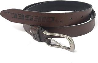 adcfd639d4bc5 DIESEL PLUS Cinturón para Hombre de Cuero marrón Oscuro 115 cm