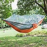 Hamaca Tela De Paracaídas Hamaca para Acampar Doble Persona Mosquitera Portátil Hamaca Muebles Al Aire Libre Camping Viaje Gar