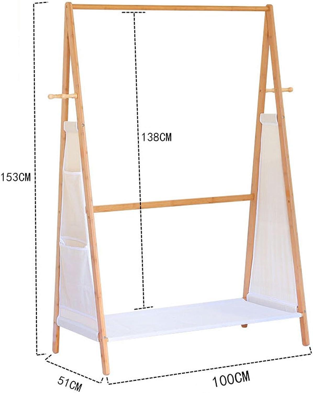 Qfgis Coat Racks Hangers Landing Bedroom Clothes Shelves Bamboo Living Room Shelf Simple Modern Furniture (Size   100CM)