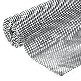 BNYD Drawer Liner Non Adhesive Kitchen Shelf Liner, Non-Slip Mat Cabinet Grip Liner 12 in. x 20 ft. (Grey)