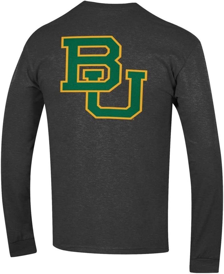 Elite Fan Shop NCAA Mens Front//Back Dark Heather Long Sleeve Tshirt