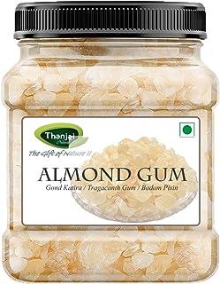 Thanjai Natural 1kg Almond Gum | Badam Pisin | Badam Gum, Premium Best 1st Quality Pure 100% Natural (500g Jar x 2)