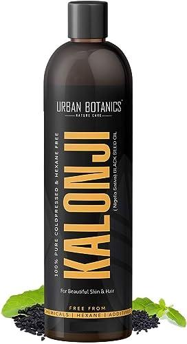 UrbanBotanics® Premium Cold Pressed Kalonji Oil - Virgin Grade - Black Seed Oil - Nigella Sativa - 200ml