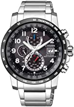 Citizen Eco-Drive AT8124-83E Global Radio Controlled at Chronograph Perpetual Sapphire Silver Men's Watch
