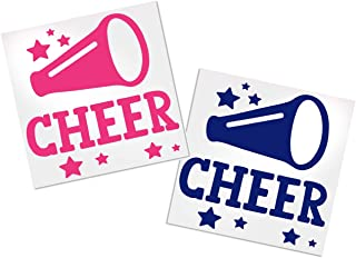Cheer Decal with Megaphone, Your Choice of Color & Style | Decals by ADavis