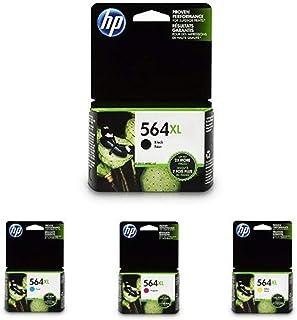 HP 564XL | Ink Cartridge Bundle | Black, Cyan, Yellow, Magenta | CN684WN, CB323WN, CB324WN, CB325WN
