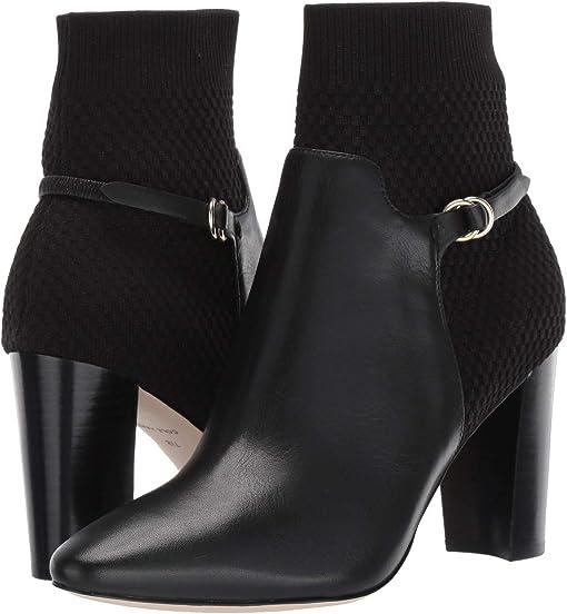 Black Leather/Tonal Knit/Black Stack