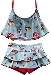 Zhhlaixing Little Girls Cute Printing Pattern 水着 児童 2 Piece Beachwear 休日 水泳のコスチューム