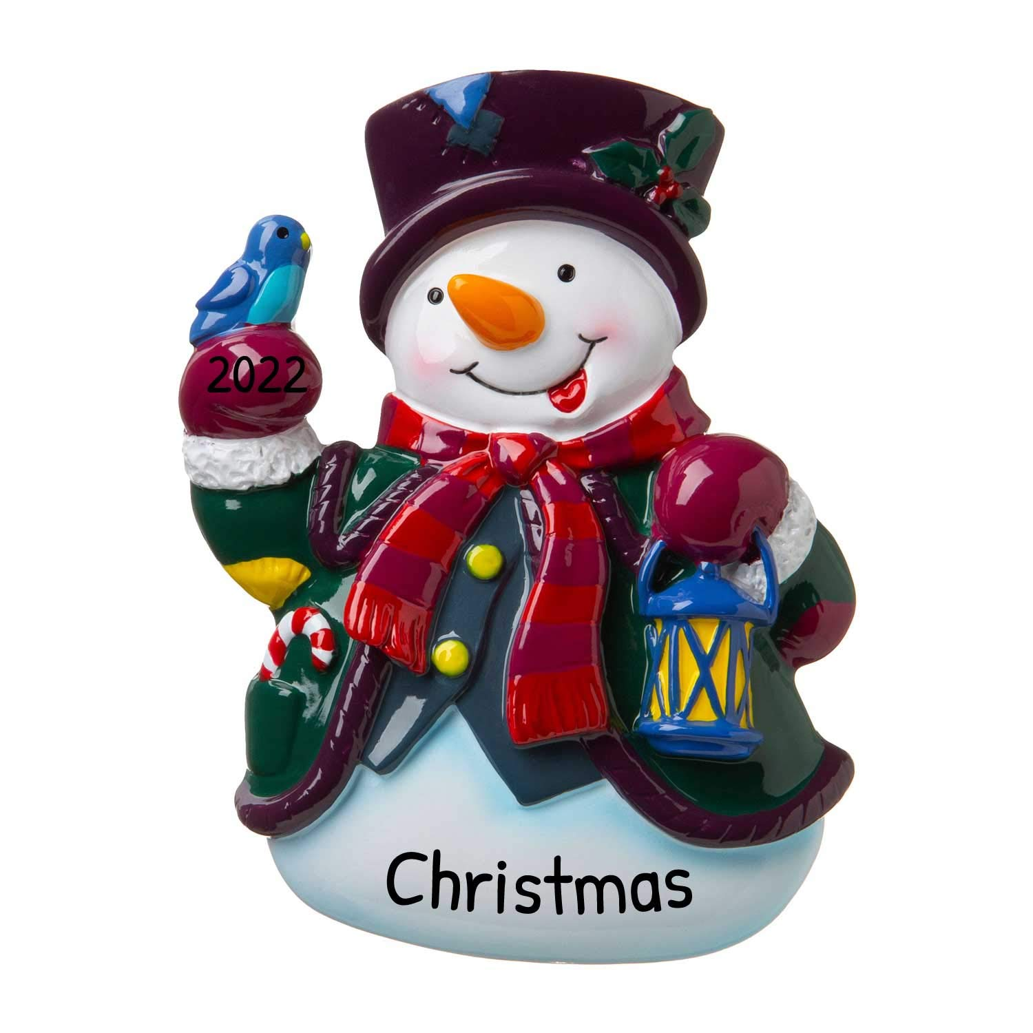 Image of Adorable Personalized Snowman Ornament - More Snowmen Designs Available