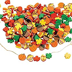 Foam beads for Halloween necklace crafts
