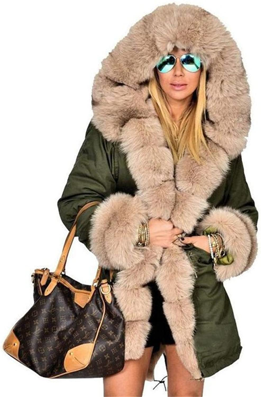 Women Winter Jacket And Coat New Hooded Fur Collar Down Cotton Jakcet