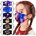 6PCS Kids Fashion Protective ???????????????? ???????????????????????? With Cartton Pattern,Adjustable Earloops Printed Cotton Washable Reusable Face_Masks,Outdoor Face Protection from Dust Particle & Droplet & pollen