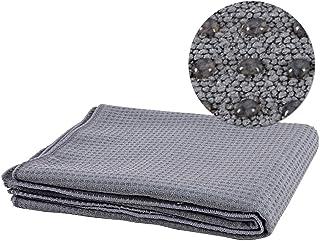 CXQ Yoga Blanket Non-Slip Silicone Cloth Towel Green Thickening Yoga Mat Towel Towel Sweat Blanket (Color : Dark Gray)