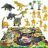 Jouets De Dinosaure Avec Tapis De Jeu, Figurines De Dinosaures Réalistes Éducatives Scène De Jeu De Simulation De Dinosaure Modèle Jouets Enfants Tapis De Jeu De Dinosaure Tapis Anti-dérapant Bébé
