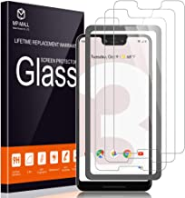 MP-MALL [3-Pack] Screen Protector for Google Pixel 3 XL, [Case Friendly] [Alignment Frame Easy Installation] Tempered Glass with Lifetime Replacement Warranty