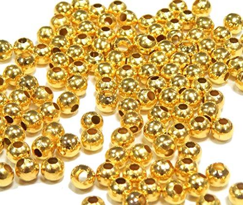 Cuentas de metal, piezas intermedias antiguas tibetanas, plateadas, doradas, plateadas, plateadas, plateadas, con espaciadores de 2/3/4/5/8 mm (oro, 4 mm – 300 unidades)