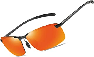 Mens Womens Polarized Sunglasses 100% UV400 Protection Aviator Black Sun Glasses
