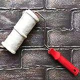 Rodillo de relieve de ladrillo de 8 pulgadas, rodillo de pintura de cilindro de estampado de imitación de ladrillo con mango de goma, cepillos de rodillo de pintura de pared para decoración de paredes