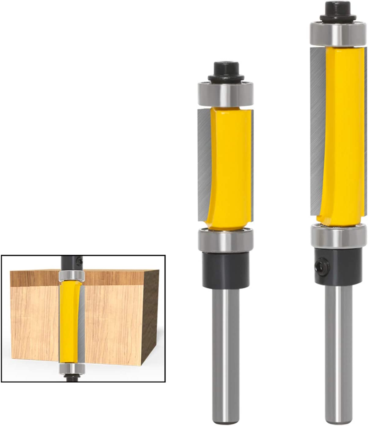 Meihejia 1 4 Inch Shank Pattern Flush Trim Bit Max 78% OFF Router T with Tucson Mall Set