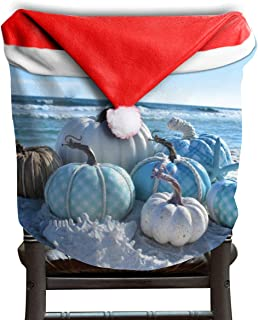 Fall Harvest Autumn Coastal Beach Beachy Ocean Seaside Starfish Themed Christmas Xmas Dinning Table Seat Chair Cap Hat Covers For Backers Slipcovers Wraps Coverings Decorations Protector Party Decor