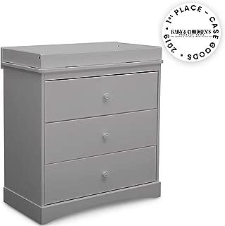 Delta Children Sutton 3 Drawer Dresser with Changing Top, Grey