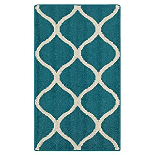 Maples Rugs Rebecca Contemporary Kitchen Rugs Non Skid Accent Area Carpet [Made in USA], 1'8 x 2'10, Teal/Sand (B00N3TVIJM)   Amazon price tracker / tracking, Amazon price history charts, Amazon price watches, Amazon price drop alerts