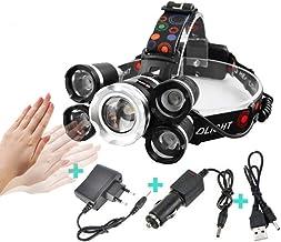 Koplamp IR Inductie Sensor Krachtige LED koplamp Zoom Koplamp Vissen Koplamp Zaklamp Koplamp Geen Batterij