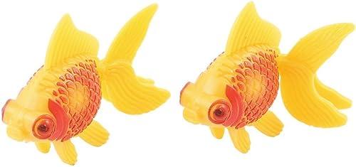 wholesale Mallofusa Plastic Aquarium sale lowest Decor Faux Fantail Goldfish Ornament, 2-Piece, Orange outlet sale