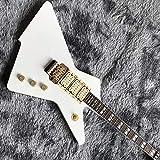 YYYSHOPP Guitars & Gear - Sistema de trémolo para guitarra eléctrica con cuerda de acero, color blanco, tamaño: 99 cm