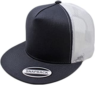 GREAT CAP Trucker Hat – Classic Flat Visor Solid Color Baseball with Mesh Back