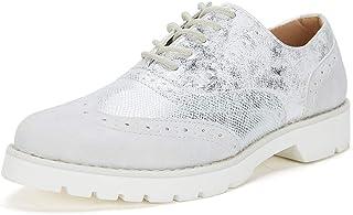 Amazon.es: Plateado - Oxford y blucher / Zapatos planos ...