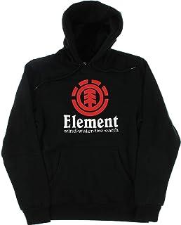 239642ff8168f Element Skateboards Vertical Flint Black Men s Hooded Sweatshirt - X-Large