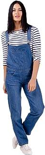 Ladies Regular Fit Dungarees Darkwash Denim Blue Jean Bib Overalls one-Piece Festival Fashion Dottie
