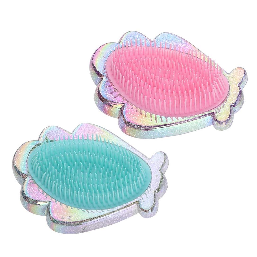 病気ダーベビルのテス拮抗するCUTICATE コーム ヘアコーム ヘアブラシ 静電気防止 プラスチック製 女性用 2個パック