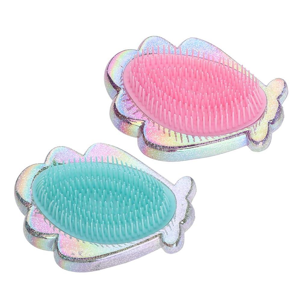 グラストラフィックエンコミウムF Fityle プラスチック製 コーム シェル形 ヘアブラシ ヘアコーム 全2個