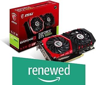 MSI Gaming GeForce GTX 1050 Ti 4GB GDRR5 128-bit HDCP Support DirectX 12 TORX 2.0 Fan Graphics Card (GTX 1050 TI Gaming X 4G) (Renewed)