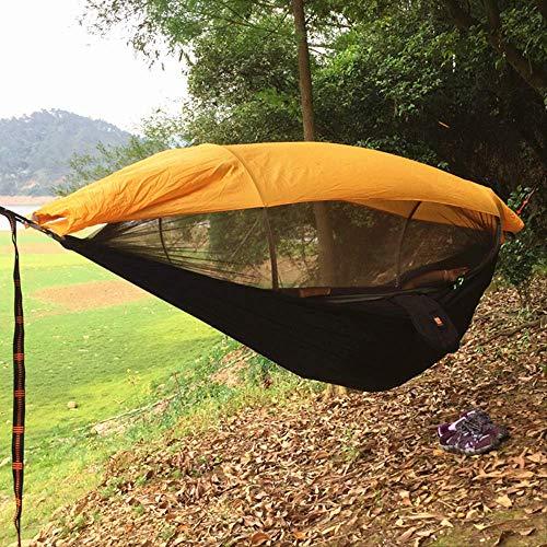 PPPERT Hängematten, Moskitosichere Outdoor-Moskitonetze Hängematten, Fallschirmtuch Seconds Open-Air-Zelte, 250 x 120 cm, schwarz, ohne Sonnenschutz-Moskitonetze