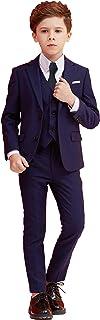 男の子スーツ,スーツ 男の子5ピーススリムフィットドレスウェアスーツセット