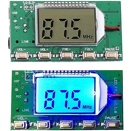 Hiletgo Digital Fm Transmitter Modul Fm Transmitter Stereo Frequency Modulation Dsp Pll 76 0 108 0 Mhz Multifunktions Frequency Modulation Mit Lcd Display Beleuchtung